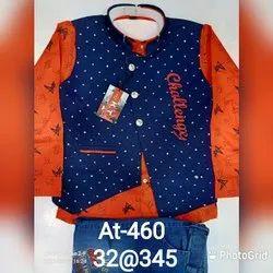 Orange With Blue Boy's Kids Fashion Clothing
