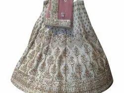 Georgette Embroidery Embroidered Wedding Lehenga, Lehenga,Blouse & Dupatta