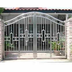 Silver Stainless Steel Hinged Gates
