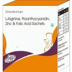 L-Arginine, Proanthocyanidin, Zinc & Folic Acid Sachets