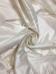 White Plain Raw Silk Fabric, For Garments