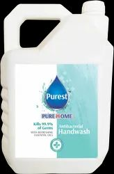 Plastic White Purest Liquid Hand Wash, Packaging Type: Can , Size - 5 liter, For Personal