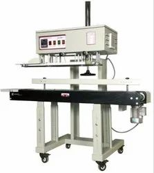 Head Adjustable Vertical Continuous Band Sealing Machine