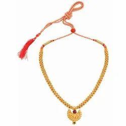 Wedding Golden Ethnic Traditional Maharashtrian Thushi Necklace Jewellery