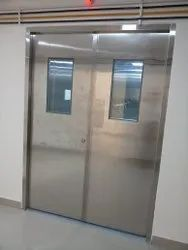 Polished Stainless Steel Hinged Door, Thickness: 1inch, Material Grade: SS 304