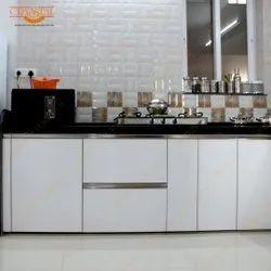 Wood Modern Laminated Shutter Kitchen