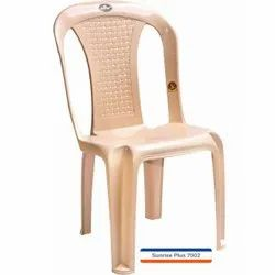 Marble Beige Plastic Armless Chair