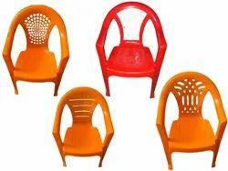 Standard Multicolor Armrest Plastic Chair