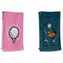 Vaibhav Overseas Printed Golf Towels, For Bathroom, Size: 75x150 Cm
