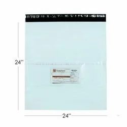 Plain White Tamper Proof Courier Bags, For Shopping, Thickness: 50 & Above Micron