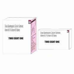 Cissus Quadrangularis Calcium Carbonate Vitamin K2-7 & Vitamin D3 Tablets