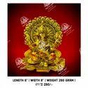 Gold Plated Ganesh Idol