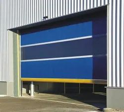 Slide & Fold Polished High Speed PVC Doors, For Office, Exterior