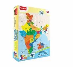 Puzzle Multicolor Funskool - Let's Learn India Map