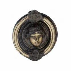4 inch Lady Queen Brass Door Knocker