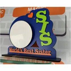 World Best Sister Wooden Photo Frame