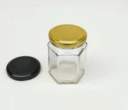 200 Ml Hexagon Glass Jar