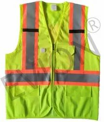 evion Full Sleeves High Visibility Safety Jacket, Size: Large, Model Name/Number: GF-OP5