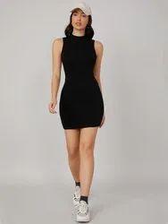 Women Bodycon Black Dress