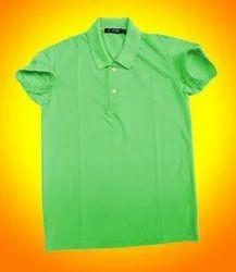 Half Sleeve Matty Aryson Men Solid Polo Neck Green T-shirt