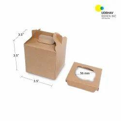 Single Cup Cake Box 3.5 x 3.5 x 3.5 Inch