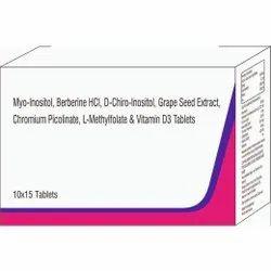 Myo- Inositol, Berberine Hcl, D-chiro- Vitamin D3 Tablet