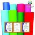 Polypropylene Spunbond Nonwoven Fabric With Different Colours On White Background