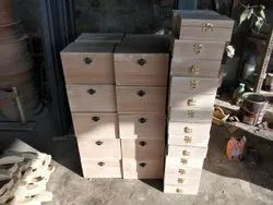 Rectangle Polished Unfinished Empty Wood Boxes, For Storage