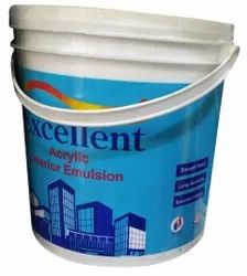 White Modern Excellent Acrylic Interior Emulsion Paint, Packaging Size: 4 Litre