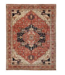 Polyester FAF00208 Hand Knotted Serapi Faf Carpet, Size: 4 X 6 Ft