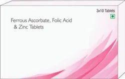 Ferrous Ascorbate, Folic Acdi & Zinc Tablets