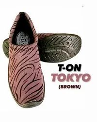 PU Flats & Sandals T-ON Ladies Tokyo Daily Wear Shoes, Size: 6
