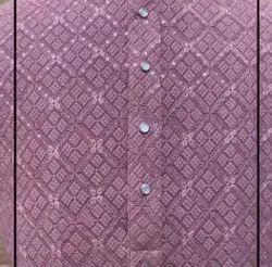 Georgette Kurta Fabric, Motifs, Off White