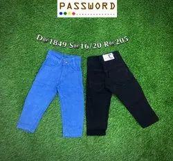 Kids Stretchable Plain Jeans