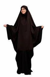 Plain Long Niqab Style Prayer Khimar Abaya Dress