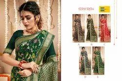 Ank Enterprise 6.3 M (with Blouse Piece) New Women's Designer Heavy Banarasi Silk Party Wear Saree