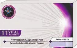 Methylcobalamin, Alpha Lipotic Acid, Pyridoxine, Folic Acid & Vitamin Capsules
