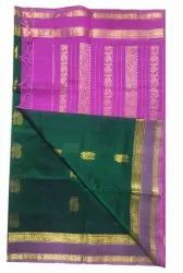 Formal Wear Zari Butta Silk Saree, 6.3 m (with blouse piece)