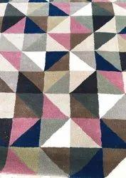 Modern Triangle Print Silk Wool Rugs