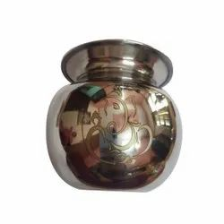 Silver Stainless Steel Pooja Lota
