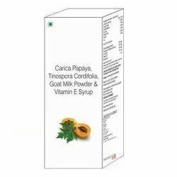 Carica Papaya Tinospora Cordifolia Goat Milk Powder & Vitamin E Syrup