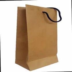 Brown Kraft Paper Tote Bags, Size: 10h X 6w X 4