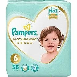 Kids Cotton Inner Cover Pamper Premium Baby Care Diapers (13+ Kg) 36 Pcs, Age Group: 1-2 Years