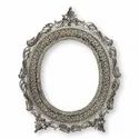 Antique Silver Plated Mirror Oval For Wall Hanging
