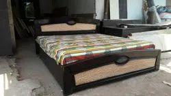 Oak Wood Brown King Size Bed, Size: 78x72