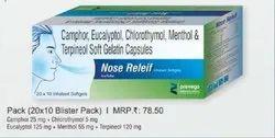 Camphor Eucalyptol Chlorothymol Menthol and Terpineol Soft Gelatin Capsules