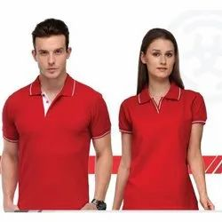 Red Sports Polo T-Shirt