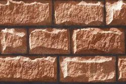 Brown tiles Elevation Stone Tile, For Wall, Thickness: 5-10 mm