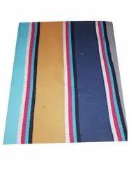 Striped Cotton Floor Carpet, Size: 3x6feet