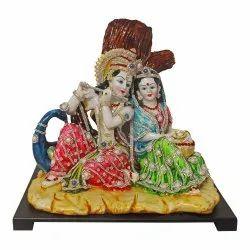 Radha Krishna Religious Polyresin Hand Crafted Statue